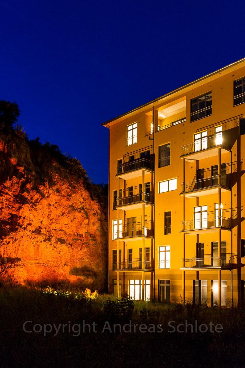 Klosterterrassen Oppenheim bei Nacht