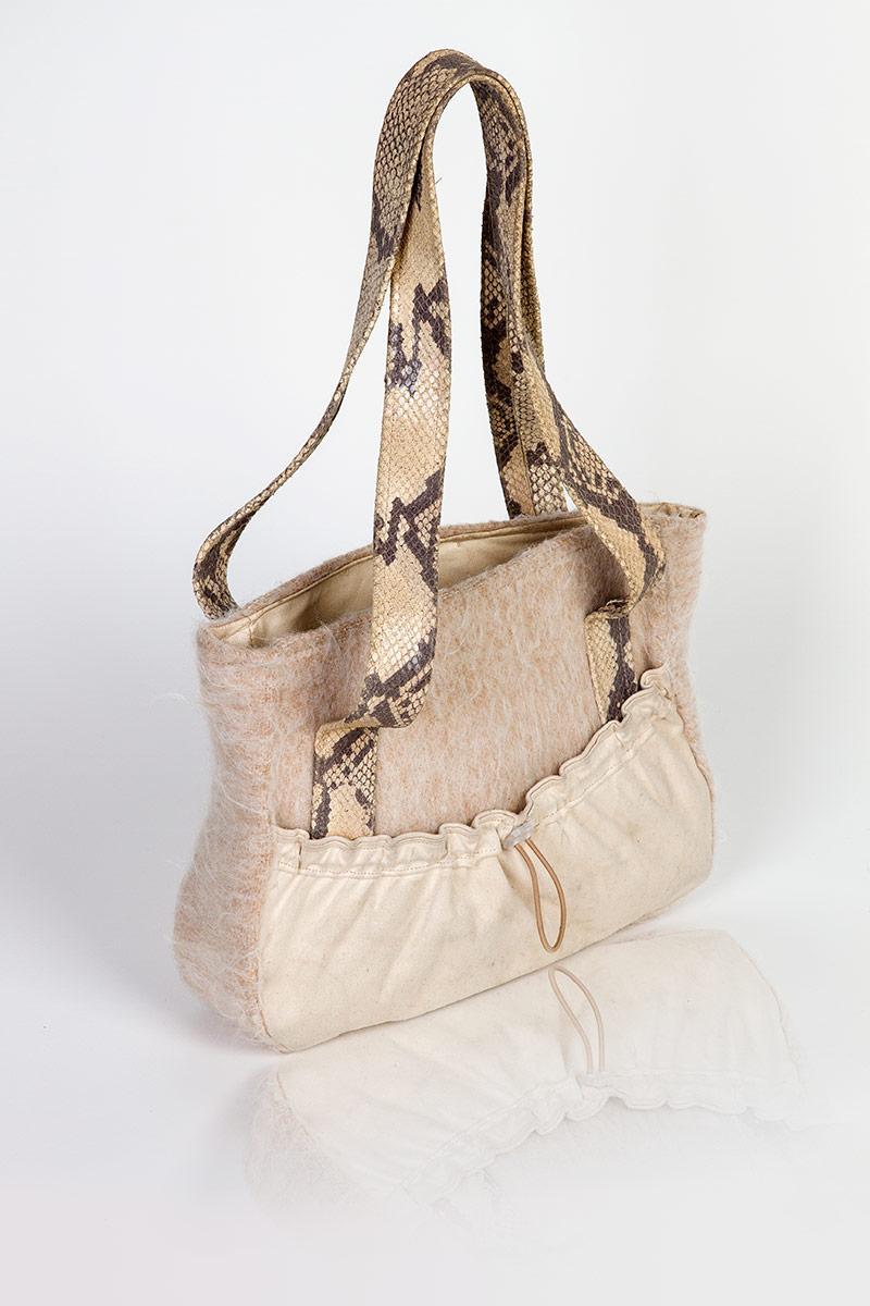 Handtasche Kunstleder Stoff